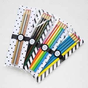 Metallic Elements Shiny Pencil Set - Newton and Apple