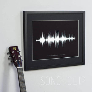 Personalised Your Voice Sound Wave Print - Newton and Apple