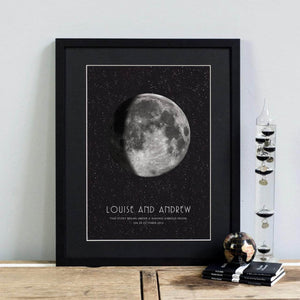 PDF Personalised Moon Phase Print - Newton and Apple
