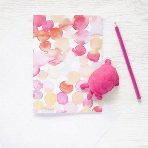 Petri Dish Watercolour Painted Notebook