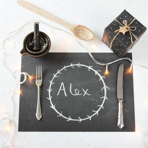 Chalkboard Christmas Dinner Placemat Sheets - Newton and Apple