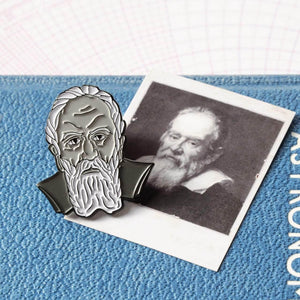 Galileo Galilei Soft Enamel Pin - Newton and Apple