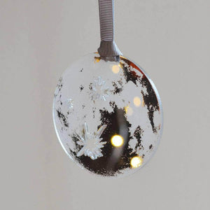 Personalised Mirror Moon Christmas Tree Decoration - Newton and Apple