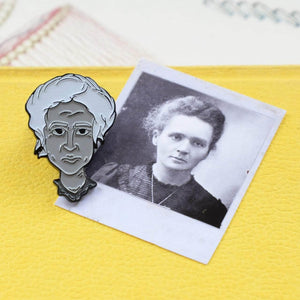 Marie Curie Soft Enamel Pin - Newton and Apple