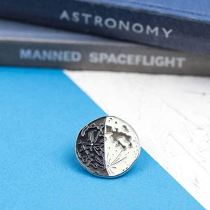 Personalised Special Date Moon Phase Enamel Pin