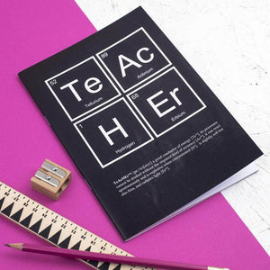 Chalkboard Teacher Periodic Table Notebook - Newton and Apple