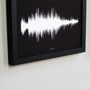Trio Of Personalised Voice Or Song Prints - Newton and Apple