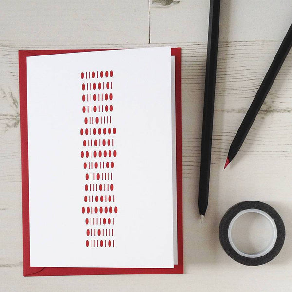 Binary 'I Like Your Bits' Valentines Cards - Newton and Apple