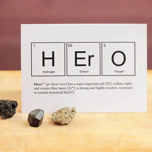 Hero Periodic Table Scientific Birthday Card - Newton and Apple