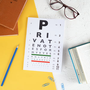 Eye Chart Notebook - Newton and Apple