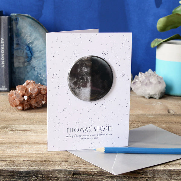 Personalised Moon Phase Card with Gift - Newton and Apple