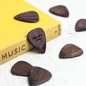 Personalised Purple Heart Sound Wave Wooden Pick - Newton and Apple