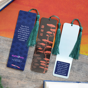 Shinrin Yoku Metal Bookmark - Newton and Apple