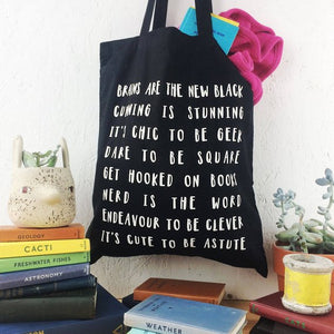 Clever Tote Bag in Black - Newton and Apple