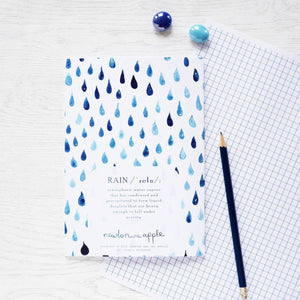 Ideas For A Rainy Day Watercolour Notebook - Newton and Apple