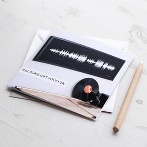 Gift Voucher For Personalised Song Soundwave Print - Newton and Apple