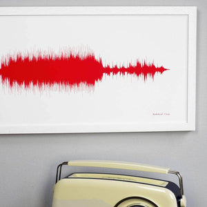 Personalised Your Song Sound Wave Print - Newton and Apple