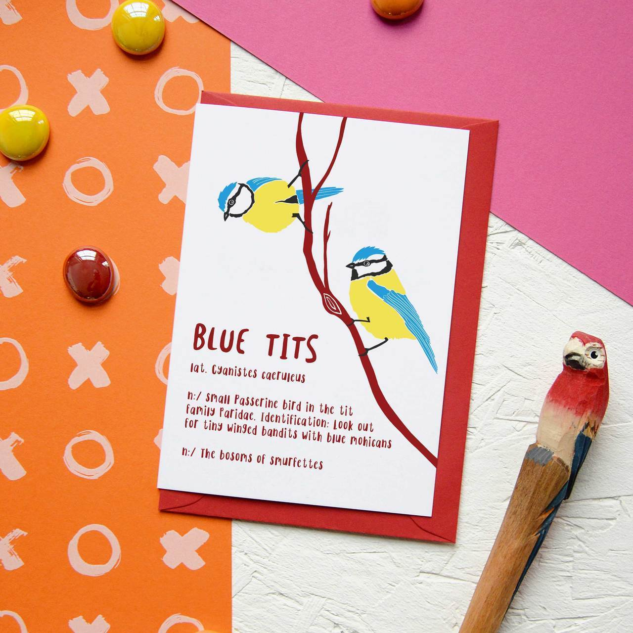 Blue Tits Funny Valentines Day Rude Pun Card Newton And Apple