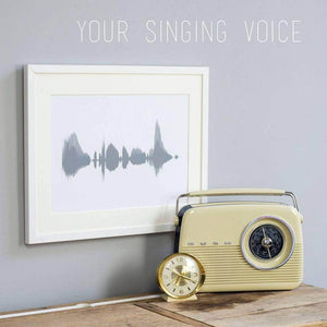 DIGITAL PDF Personalised Your Voice Sound Wave Print - Newton and Apple