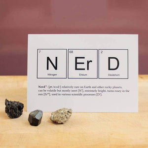 Nerd Periodic Table Card - Newton and Apple