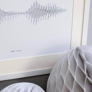 Pair Of Personalised Voice Or Song Prints - Newton and Apple