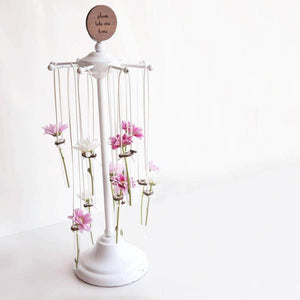 Personalised Test Tube Vase Wedding Favours - Newton and Apple