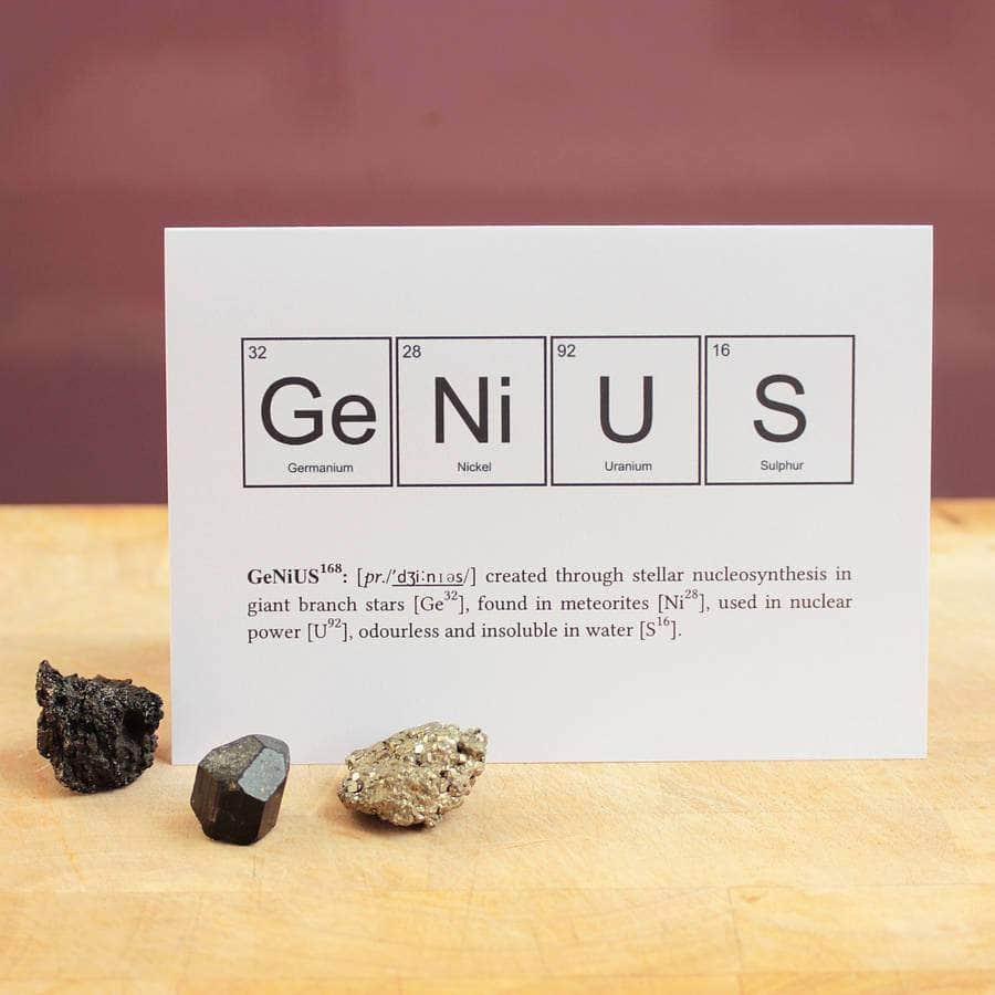 Funny genius elements periodic table card newton and apple genius elements periodic table card newton and apple urtaz Gallery