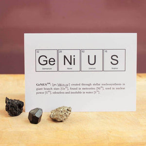 Genius Elements Periodic Table Card - Newton and Apple