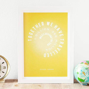 Personalised Sun Miles Art Print - Newton and Apple