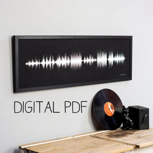 DIGITAL PDF Personalised Your Song Sound Wave High Resolution Download - Newton and Apple