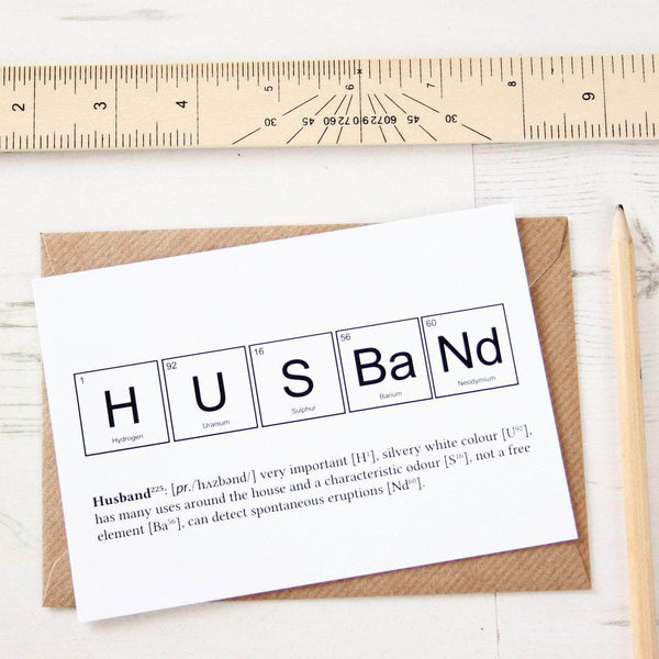 Husband Elements Funny Anniversary Card - Newton and Apple