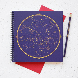 Map Of Star Constellations Jotter Pad - Newton and Apple
