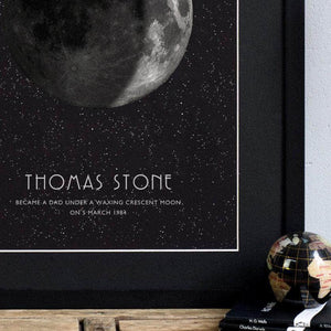 Personalised Moon Phase Print - Newton and Apple