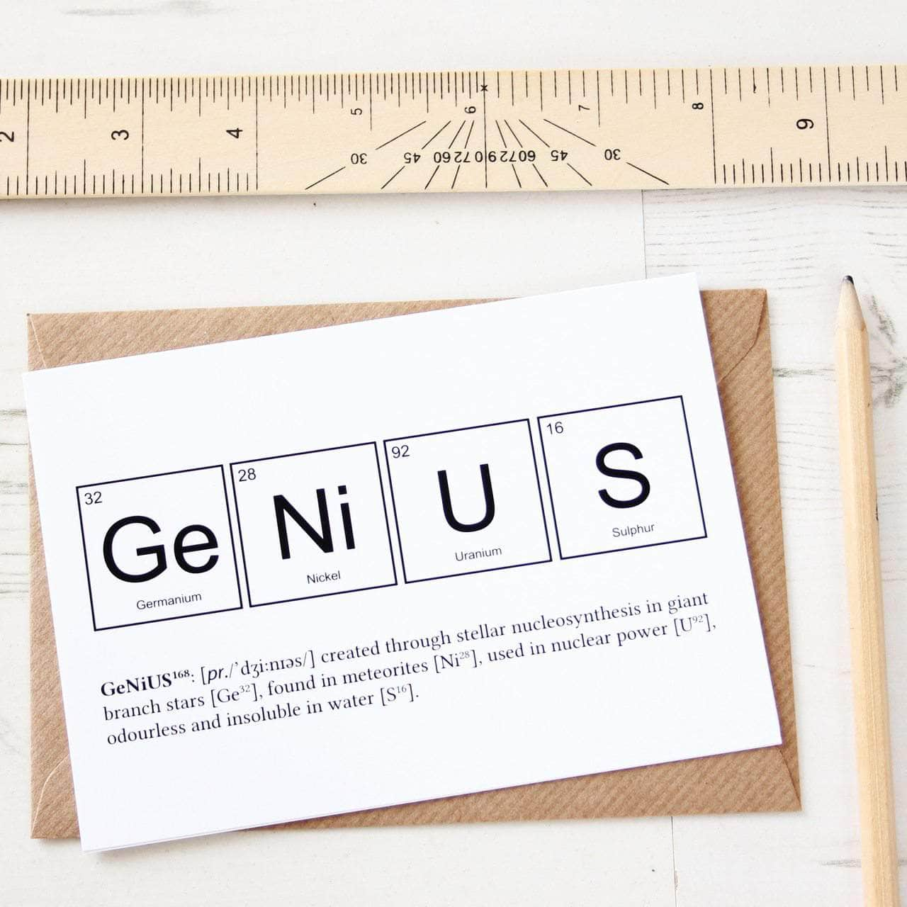 Funny genius elements periodic table card newton and apple genius elements periodic table card urtaz Image collections