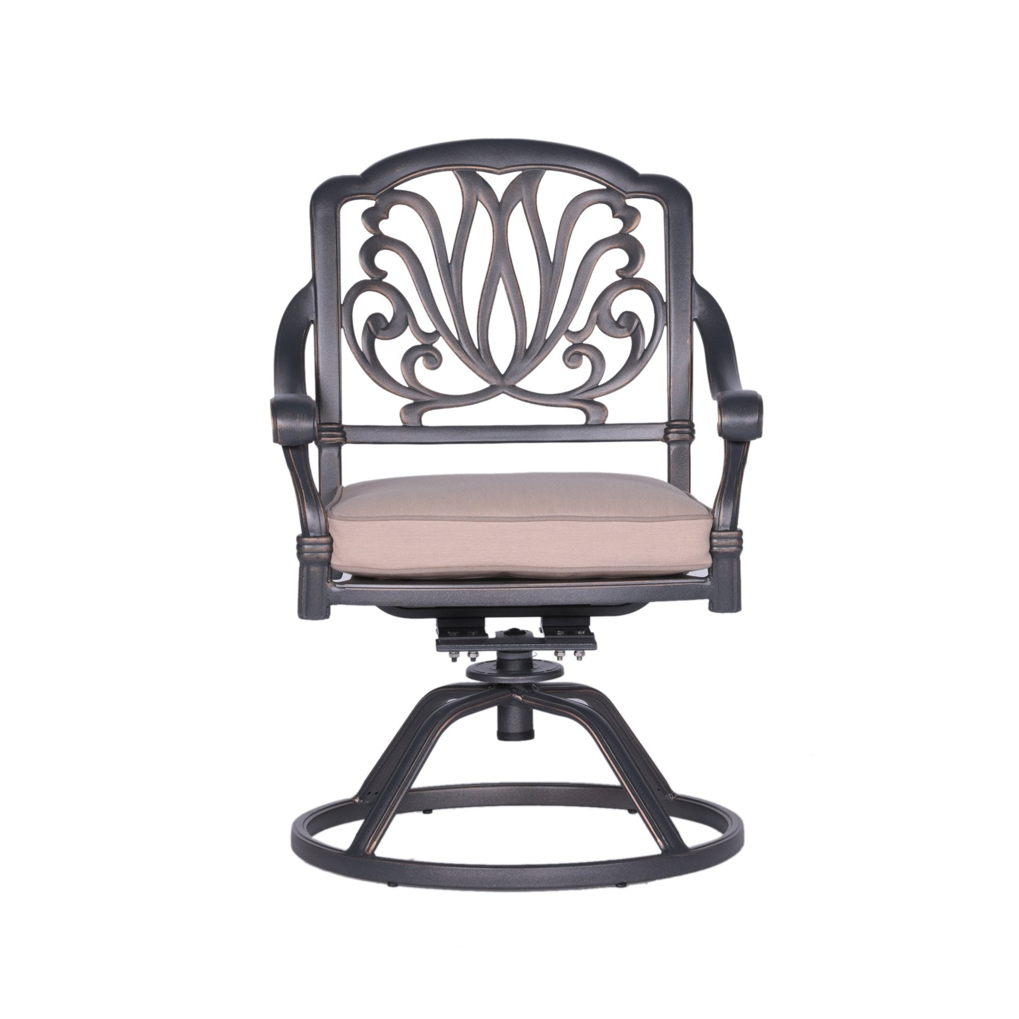 Fabulous Ipatio Athens Dining Swivel Rocker Chairs With Cushion Alphanode Cool Chair Designs And Ideas Alphanodeonline