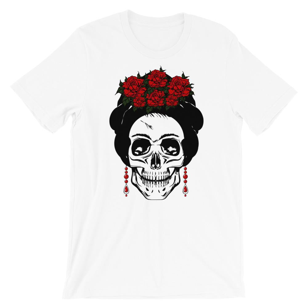 Buy online High Quality Frida Calavera Short-Sleeve Unisex T-Shirt - Mr. Huey Shop
