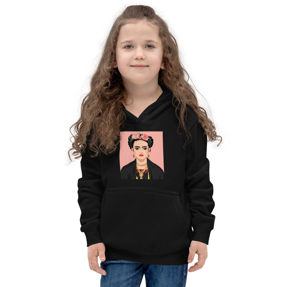 Buy online High Quality Kids Love Frida Black Hoodie - Mr. Huey Shop