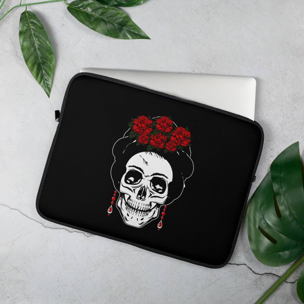 Buy online High Quality Frida Calavera Laptop Sleeve - Mr. Huey Shop
