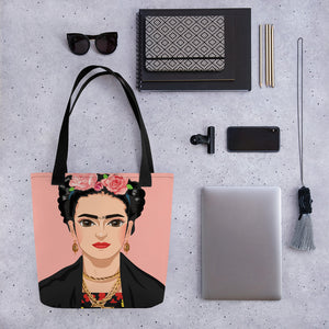 Buy online High Quality Love Frida Tote bag - Mr. Huey Shop