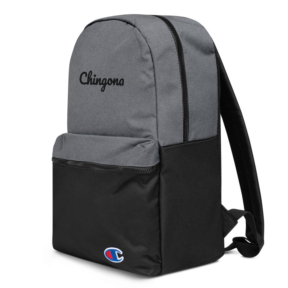 Buy online High Quality Chingona Embroidered Champion Backpack - Mr. Huey Shop