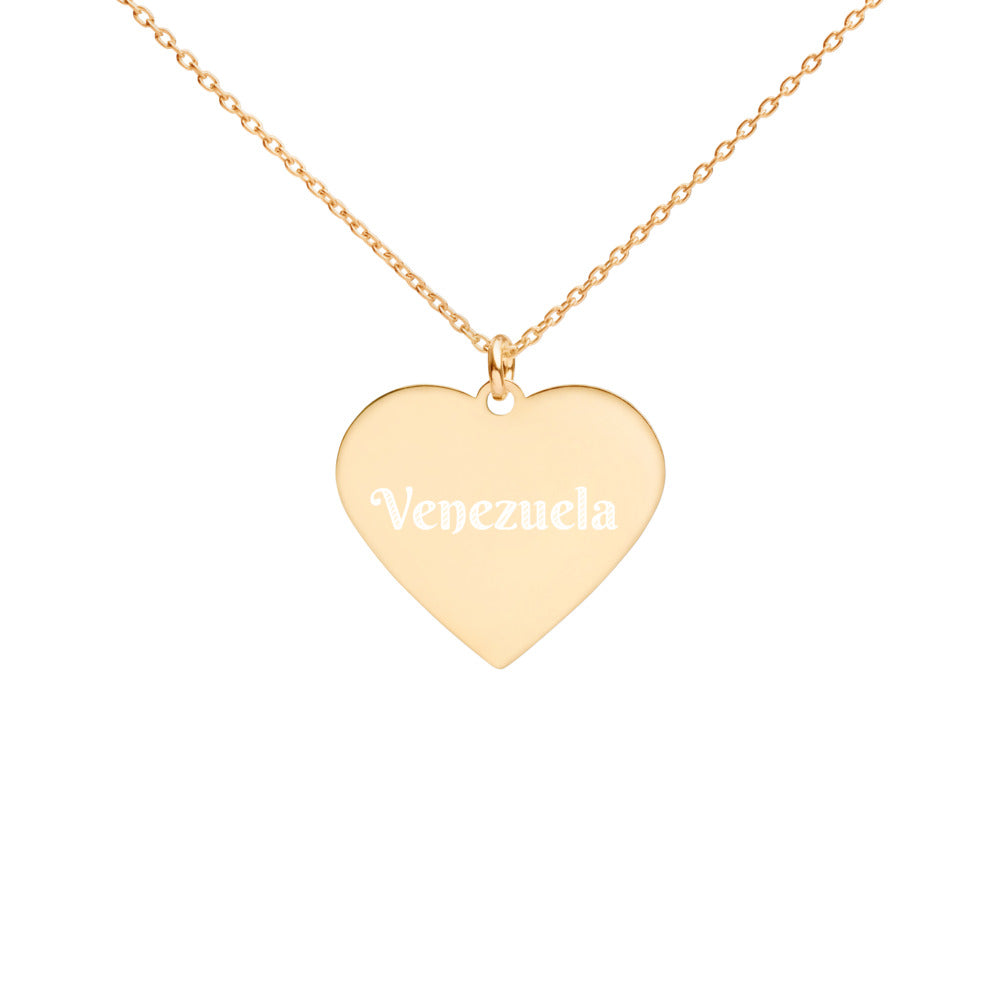 Buy online High Quality Venezuela Engraved Silver Heart Necklace - Mr. Huey Shop