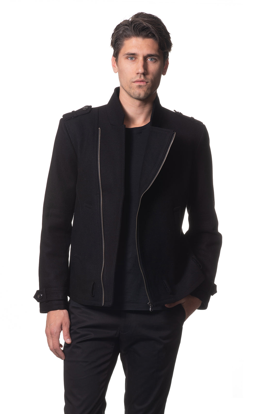 Jac wool biker jacket