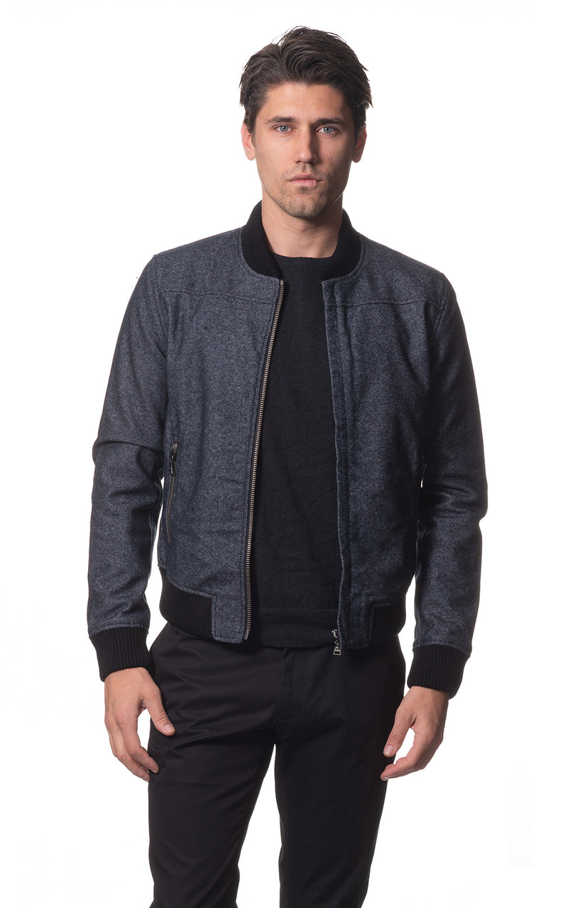 Amari Denim Bomber Jacket