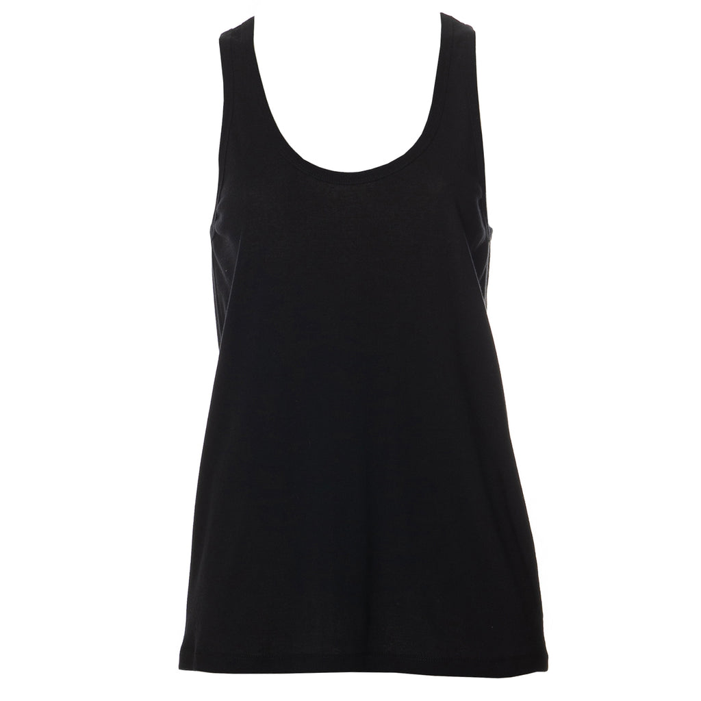Louisa Basic Summer Tank Top Black