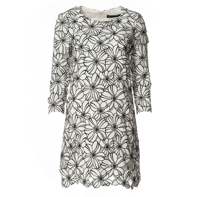 Melanie Tunic Dress Black/White