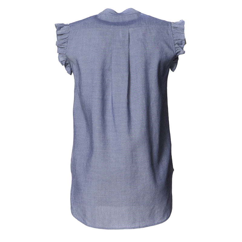 Cindy Frill Shoulder Cotton Top