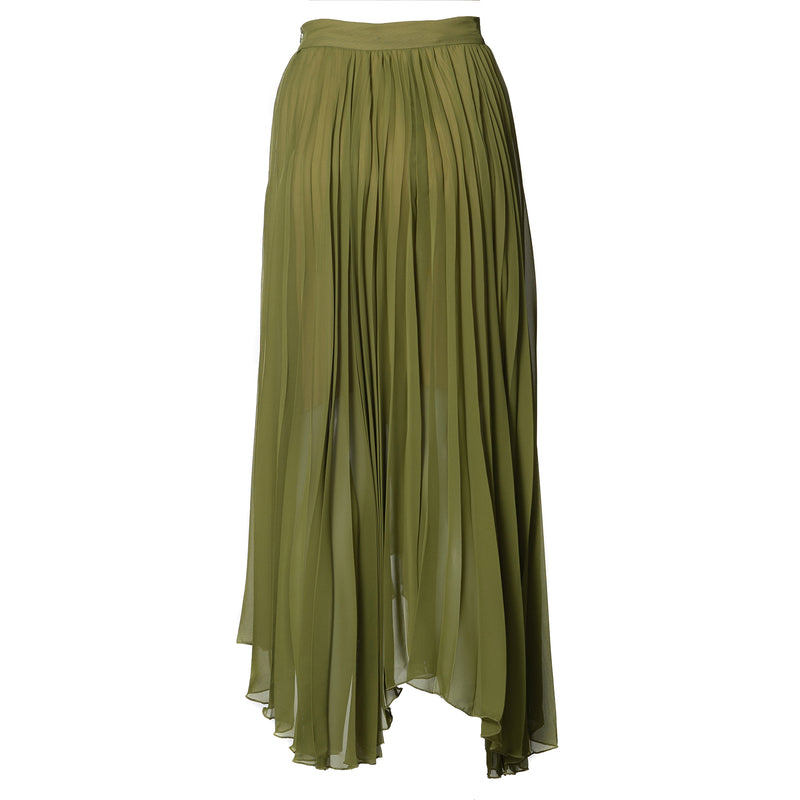 Maya Pleated Skirt Avocado