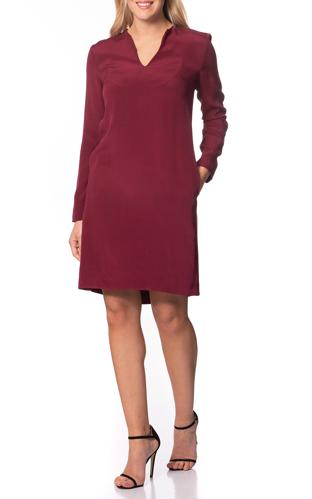 Lumi Long Sleeve Silk Dress