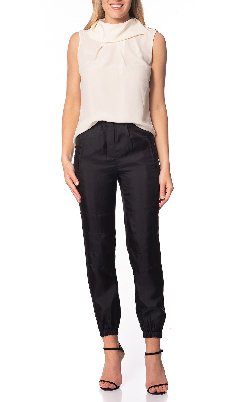 Gemma Silk Track Pants
