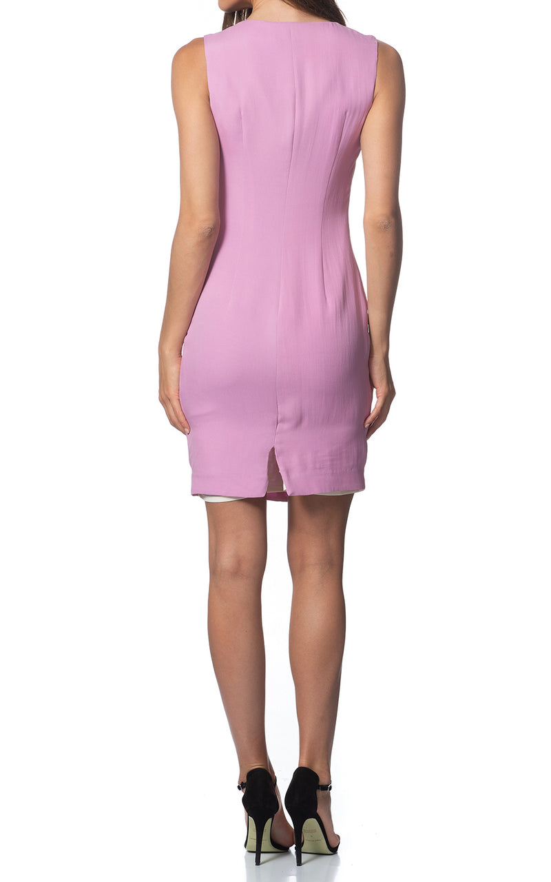 Iris V-front Silk Dress Lavender